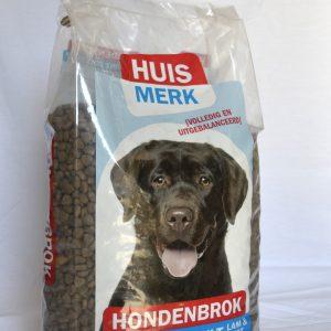Huismerk hond Krokant Adult lam en rijst 10kg