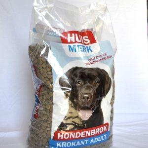 Huismerk hond Krokante brok 10kg